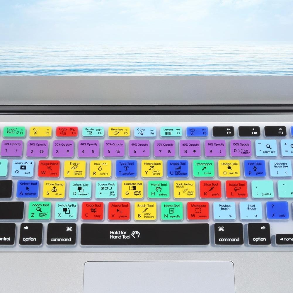 ... Adobe Photoshop Ultra Thin TPU Universal American English ShortcutKey Laptop Keyboard Protective Film for MacBook Air ...