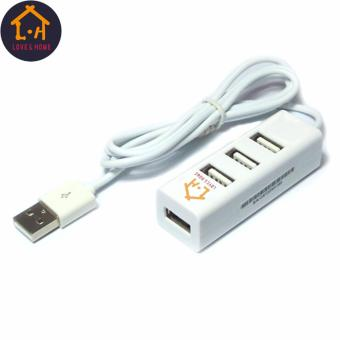 Adventurers 120cm Portable High Speed 4 Ports 2.0 USB Hub LongExtension Cable (White) Free 1 Of 8GB Double Plug Cellphone / PCUSB Flash Drive Dual Purpose Memory Stick (Any Color) - 2