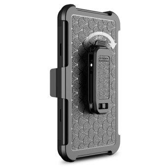 [Aegis Series] Heavy Duty Rugged Full-Body Armor Holster Case [Belt Swivel Clip [Kickstand] For LG Stylo 3 / LG Stylus 3 2017 LS777 - intl - 5