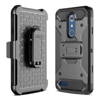 [Aegis Series] Heavy Duty Rugged Full-Body Armor Holster Case [Belt Swivel Clip [Kickstand] For LG Stylo 3 / LG Stylus 3 2017 LS777 - intl - 2