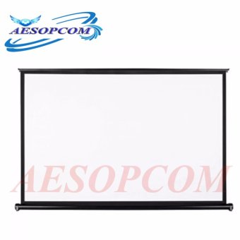 AESOPCOM 50 Inch 4:3 Pull Up Pull Down Projector Screen (Black)