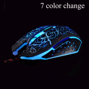 AESOPCOM Optical Adjustable 6D Wired Gaming Mouse (Black)