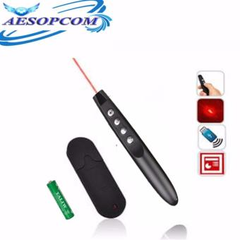 AESOPCOM Wireless Powerpoint Presenter Laser Pointer(BLACK)