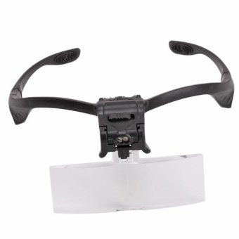 Ai Home LED Glasses Clip Magnifying Glass Jewelry Watch RepairMagnifier Lens 5 Dental Loupes Light Head - 3