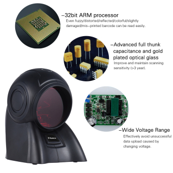 Aibecy Omni-directional 20 Lines 1D USB Orbit Barcode Scanner Reader Auto Scanning 1800t/s Speed 30? Adjustable Head - 4