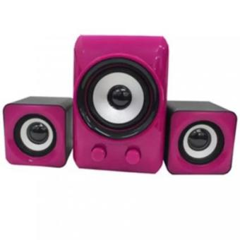 AK LC 2.1 USB 2.0 Digital Audio Multimedia Speaker (Pink) Price Philippines