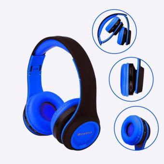 AK MS-991A Hifi Wireless Bluetooth Headphone Gaming Headsets FM/TFCard Radio Stereo Auriculares With Mic For Phone PC MP3 (Blue)
