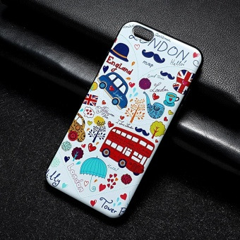 AKABEILA 3D Painted Pattern Coloured Drawing TPU Soft Phone Cover For Apple iPhone 6s Case 4.7 inch For iPhone 6 6s Phone Case - intl