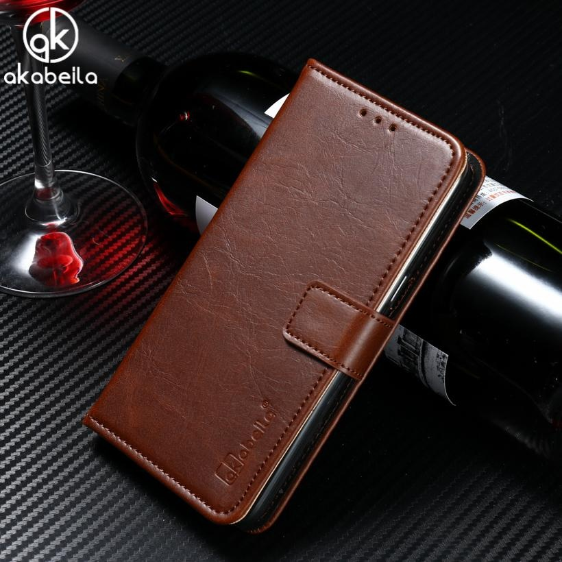 ... AKABEILA Leather Wallet Phone Case for Vivo V5 Vivo Y67 5.5 inch Luxury Plain Crazy Horse ...