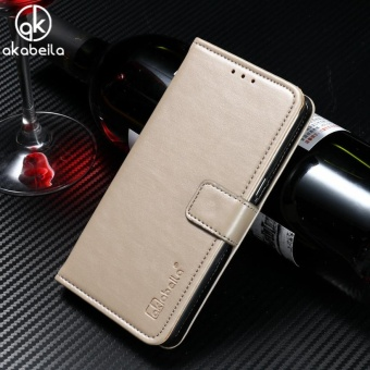 AKABEILA Leather Wallet Phone Case for Vivo V5 Vivo Y67 5.5 inchLuxury Plain Crazy Horse Phone Wallet Cases Cover Card Holder forVivo V5 Vivo Y67 - intl
