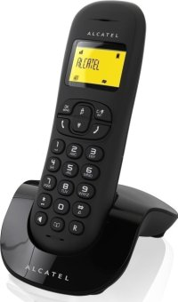 Alcatel C250 Handsfree Cordless Telephone with Caller ID (Black)