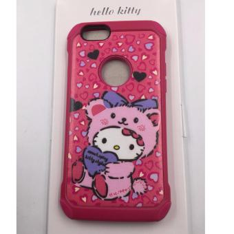 Alibaba 2 in 1 TPU Case for Apple iPhone 6 / 6s (Hello kitty medolyPink)