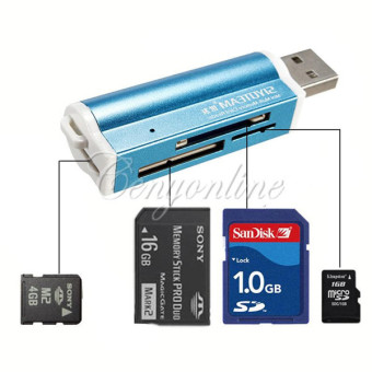 All in 1 USB 2.0 Multi Memory Card Reader Adapter Connector ForMicro SD MMC SDHC TF M2 Memory Stick MS Duo RS-MMC Retail Packag -Intl Price Philippines