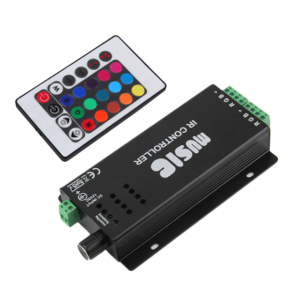 Allwin 24 Key Music IR Remote Controller Sound Sensitive for RGB LED Strip Light