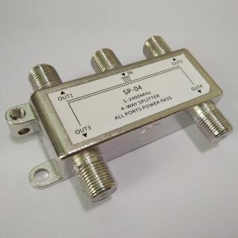 Allwin 4 Way Satellite/Antenna/Cable TV Splitter Distributor 5-2400MHz F Type