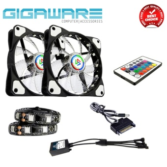 Alseye 120mm Desktop Chassis Fan RGB Fan LED Color Change 12v Fan with Remote Control 1300RPM