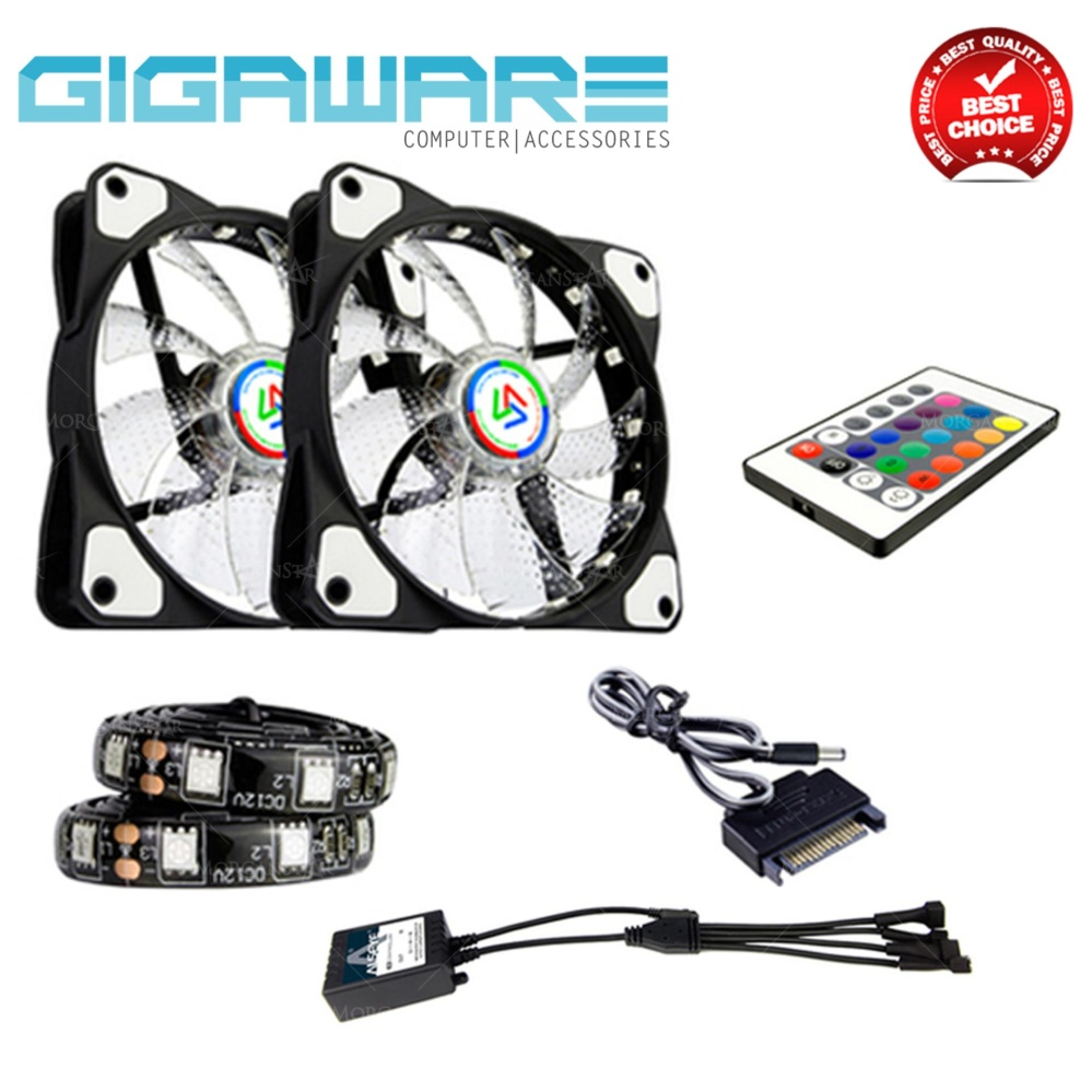 Philippines Alseye 120mm Desktop Chassis Fan Rgb Led Color Casing 12cm Change 12v With Remote Control 1300rpm