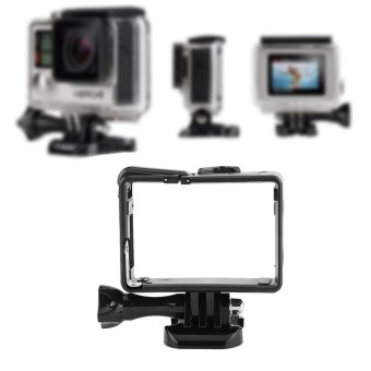 Aluminium Alloy Side Open Protective Housing Case Frame For GoproHero 3/3+/4 Camera - intl