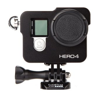 Aluminium Black Housing Shell Protective Case + 37mm UV Filter Setfor Gopro Hero 3+/ Hero4 (Black) Price Philippines