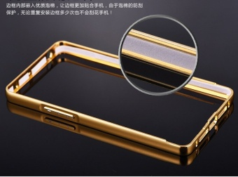 Aluminium Metal Mirror Bumper Case Cover For Oppo R1X (Color:c0) - intl - 5