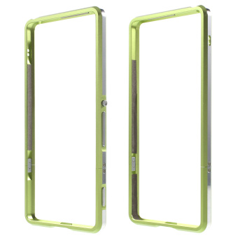 Aluminum Alloy Bumper Shell Case for Sony Xperia XA / Dual - Green- intl