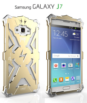 Aluminum Metal Frame Back Case Cover for Samsung Galaxy J7 2016 (gold) - intl