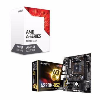 AMD 7th Gen A6-9500 Dual Core AM4 3.5GHz APU Processor with RadeonR5 Graphics and GIGABYTE GA-A320M-DS2 AM4 (A320 Chipset) Micro-ATXMotherboard Bundle Price Philippines