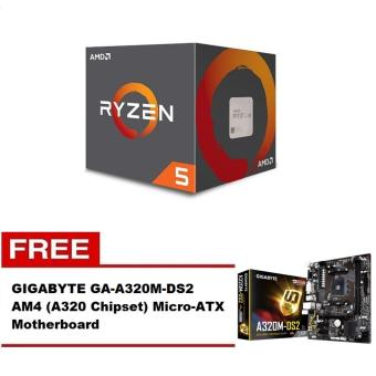 AMD Ryzen 5 1600X 3.6 GHz Six-Core AM4 Processor with FREE GIGABYTEGA-A320M-DS2 AM4 Micro-ATX Motherboard Price Philippines