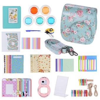 Andoer 14 in 1 Accessories Kit for Fujifilm Instax Mini 8/8+/8s w/ Camera Case/Strap/Sticker/Selfie Lens/5*Colored Filter/Album/3 Kinds Film Table Frame/10*Wall Hanging Frame/40*Border Sticker/2*Corner Sticker/Pen Outdoorfree - intl