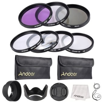 Andoer 49mm UV + CPL + FLD + Close-up(+1+2+4+10) Lens Filter Kit -