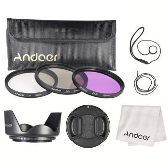 Andoer 55mm Filter Kit (UV+CPL+FLD) - Intl