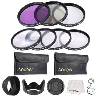 Andoer 58mm UV + CPL + FLD + Close-up(+1+2+4+10) Camera Lens FilterKit - INTL