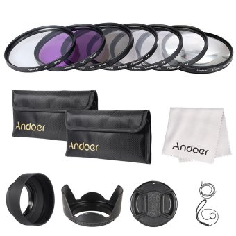 Andoer 67mm UV/CPL/FLD/Close-up(+1+2+4+10) Lens Filter Kit withCarry Pouch/Lens Cap/Lens Cap Holder/Tulip & Rubber LensHoods/Lens Cleaning Cloth Price Philippines