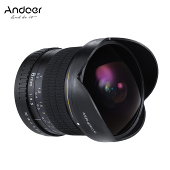 Andoer 8mm F/3.5 170? Ultra Wide HD Fisheye Aspherical Circular Lens for Canon EOS DSLR Cameras--Full Frame Compatible - intl