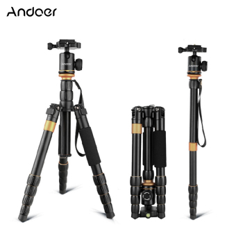 Andoer Digital Camera Camcorder Video Tripod Monopod Ball Head (Black)
