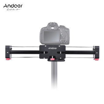Andoer FT-40 Retractable Camera Video Slider Dolly Track RailStabilizer 40cm Length 80cm Actual Sliding Distance Aluminum AlloyConstructed for Canon Nikon Sony DSLR Camcorder Outdoorfree - intl