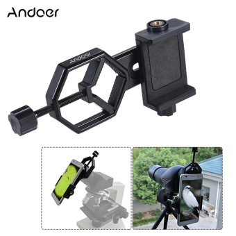 Andoer Metal Telescope Mount Adapter Bracket with AdjuatableSmartphone Cell Phone Holder Clip for Binocular Monocular SpottingScope Microscope for iPhone 7Plus/ 7/ 6s/ 6Plus - intl