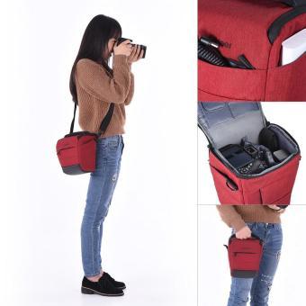 Andoer Portable DSLR Camera Shoulder Bag Sleek Polyester Camera Case for 1 Camera 1 Lens and Small Accessories for Canon Nikon Sony Fujifilm Olympus Panasonic - intl - 2