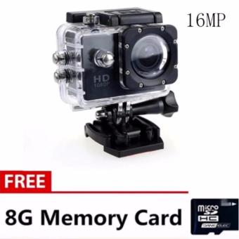 Andy 12MP 1080p HD DV Sports Camera (Black) with Free 8GB MemoryCard