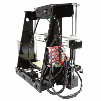 Anet A8 High Precision Big Size Desktop 3D Printer Kits Reprap Prusa i3 DIY Self Assembly LCD Screen with 8GB SD Card Printing Size 220*220*240mm Support ABS/PLA/HIP/PP/Wood Filament Black - intl - 4