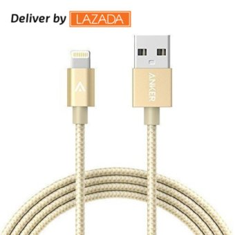 Anker 6ft Nylon Braided USB Cable with Lightning Connector AppleMFi Certified for iPhone 7 / 7 Plus / 6s / 6s Plus / 6 / 6 Plus -intl