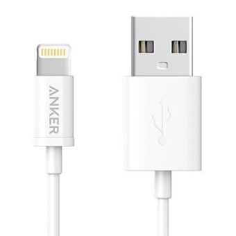 Anker Apple MFi Certified Premium Lightning to USB Cable - White(3ft) - intl