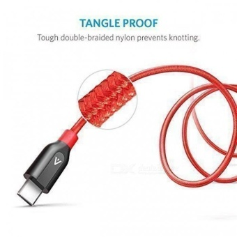 Anker Powerline+ PVC + Nylon USB Type C to USB 3.0 Cable - Red(3ft) - intl - 5