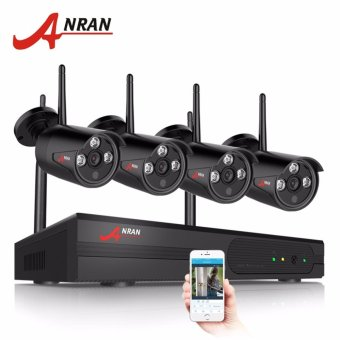 ANRAN 4CH WIFI NVR CCTV Kit&1080P HD Outdoor+Indoor Weatherproof IR Security Camera H.264 Video Surveillance System - intl