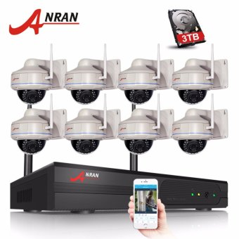 ANRAN 8CH Wifi NVR Kit 8PCS 1080P HD Wireless Wifi IP Camera 2MP Home Security CCTV Vidoe Surveillance Camera System - intl