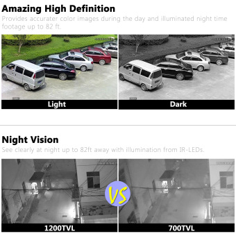 ANRAN 960H Analog 1200TVL CCTV Camera Infrared Outdoor Night Vision Waterproof Security Camera - 5