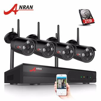 ANRAN Plug And Play 4CH WIFI NVR CCTV Kit&1080P HD Outdoor+Indoor Weatherproof IR Security Camera - intl