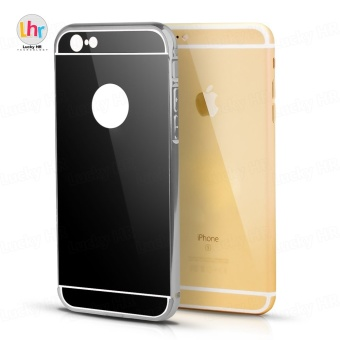 Anti-Scratch Hybrid Electroplate Case for iPhone 6 Plus (Black)