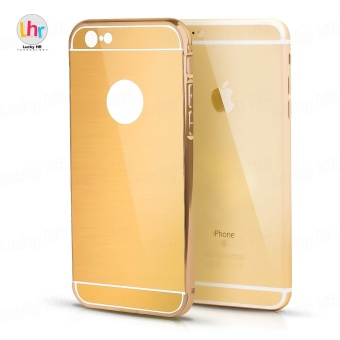 Anti-Scratch Hybrid Electroplate Case for iPhone 6 Plus (Bronze)