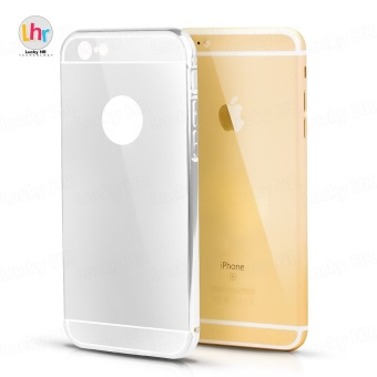 Anti-Scratch Hybrid Electroplate Case for iPhone 6 Plus (Silver)